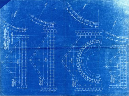 Architectural cyanotypes dead media archive boiler seam blueprintg malvernweather Choice Image