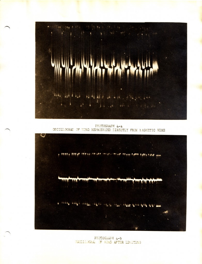 Binary digits produced by oscilloscope using limiter (late 1940s)