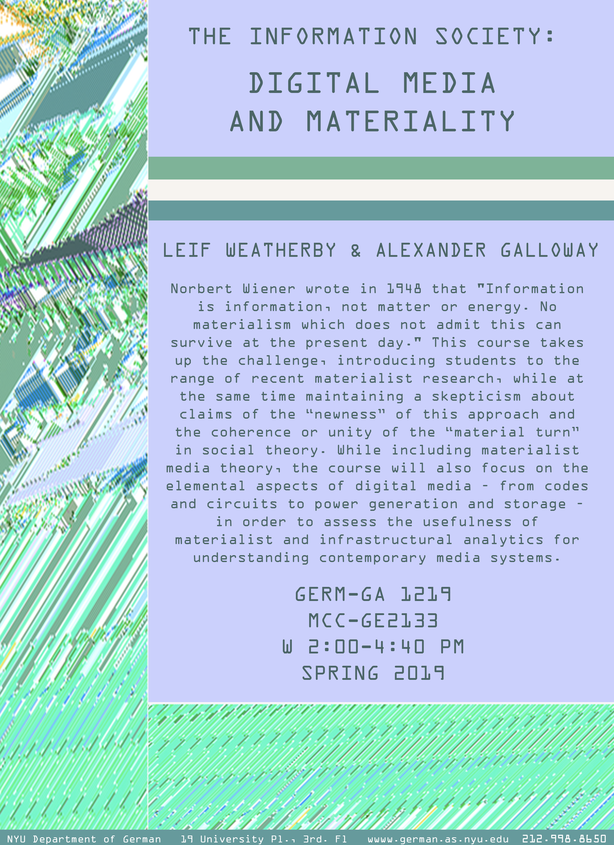 Alexander R Galloway Digital Media And Materiality